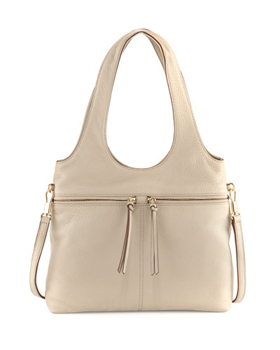 Zoe Small Carryall Tote Bag, Bone