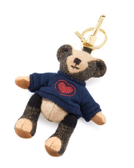 Thomas Bear Heart Charm, Camel
