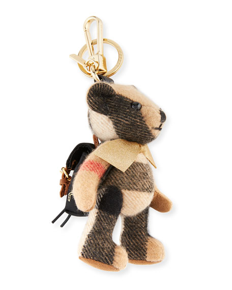 Burberry Thomas Bear Rucksack Charm for Handbag, Camel