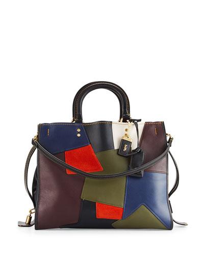 Rogue Patchwork Tote Bag, Black/Multi