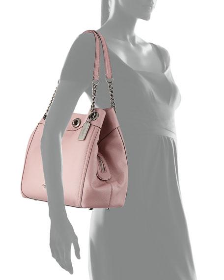 Turnlock Edie Leather Shoulder Bag