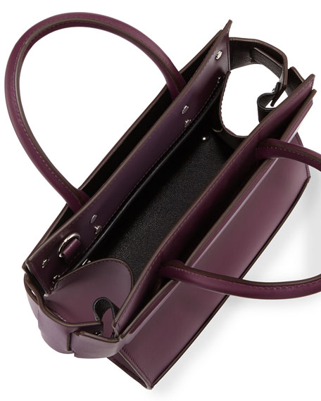 Horizon Mini Leather Satchel Bag, Purple