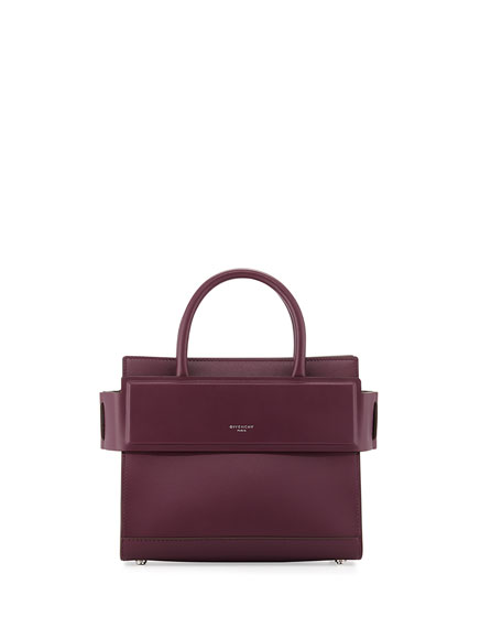 Givenchy Horizon Mini Leather Satchel Bag, Purple