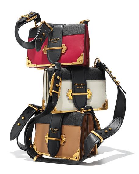 0fcb0ea7cd18 Prada Cahier Notebook Shoulder Bag