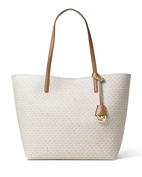 Hayley Large East-West Logo-Print Tote Bag