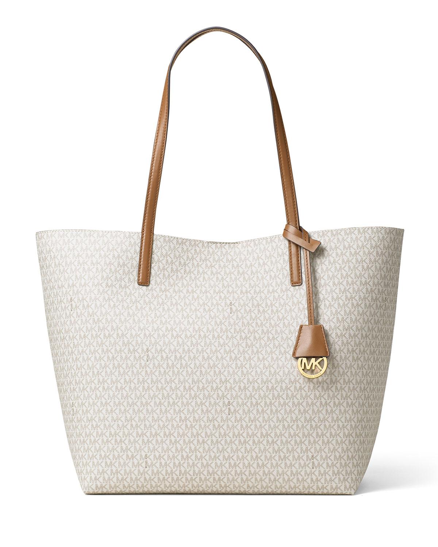 d5e692aeba3b MICHAEL Michael Kors Hayley Large East-West Logo-Print Tote Bag ...