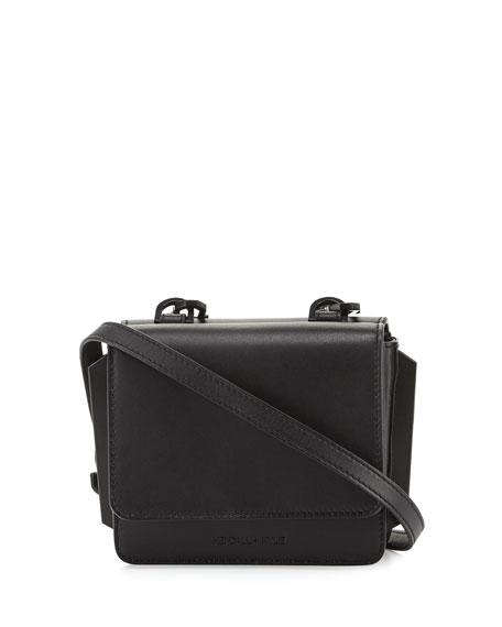 Baxter Mini Leather Crossbody Bag, Black