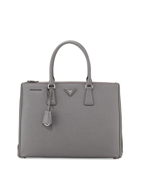 Prada Saffiano Lux Executive Tote Bag, Dark Gray