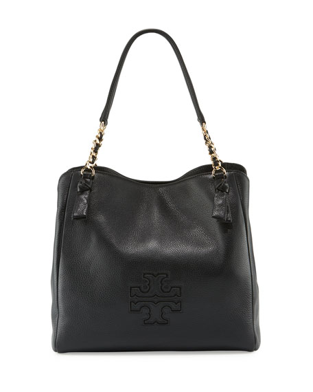 Tory Burch Harper Center-Zip Leather Tote Bag