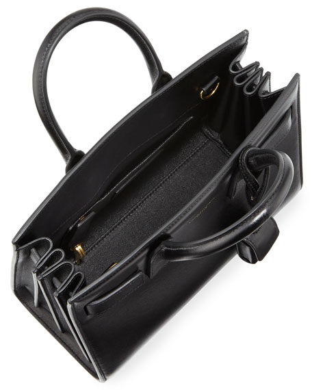 Sac de Jour Nano Leather Satchel Bag, Black