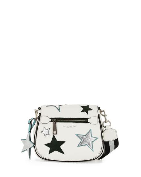 Marc JacobsStar Patchwork Small Saddle Bag, Star White/Multi