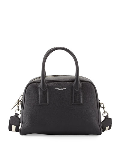 Gotham Bauletto Satchel Bag, Black