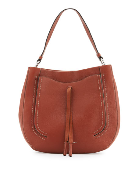 Marc Jacobs Maverick Leather Hobo Bag, Cognac