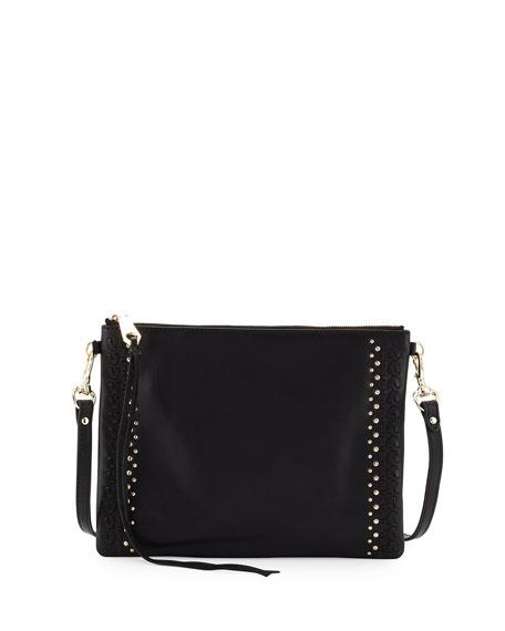 Jon Whipstitch Leather Crossbody Bag