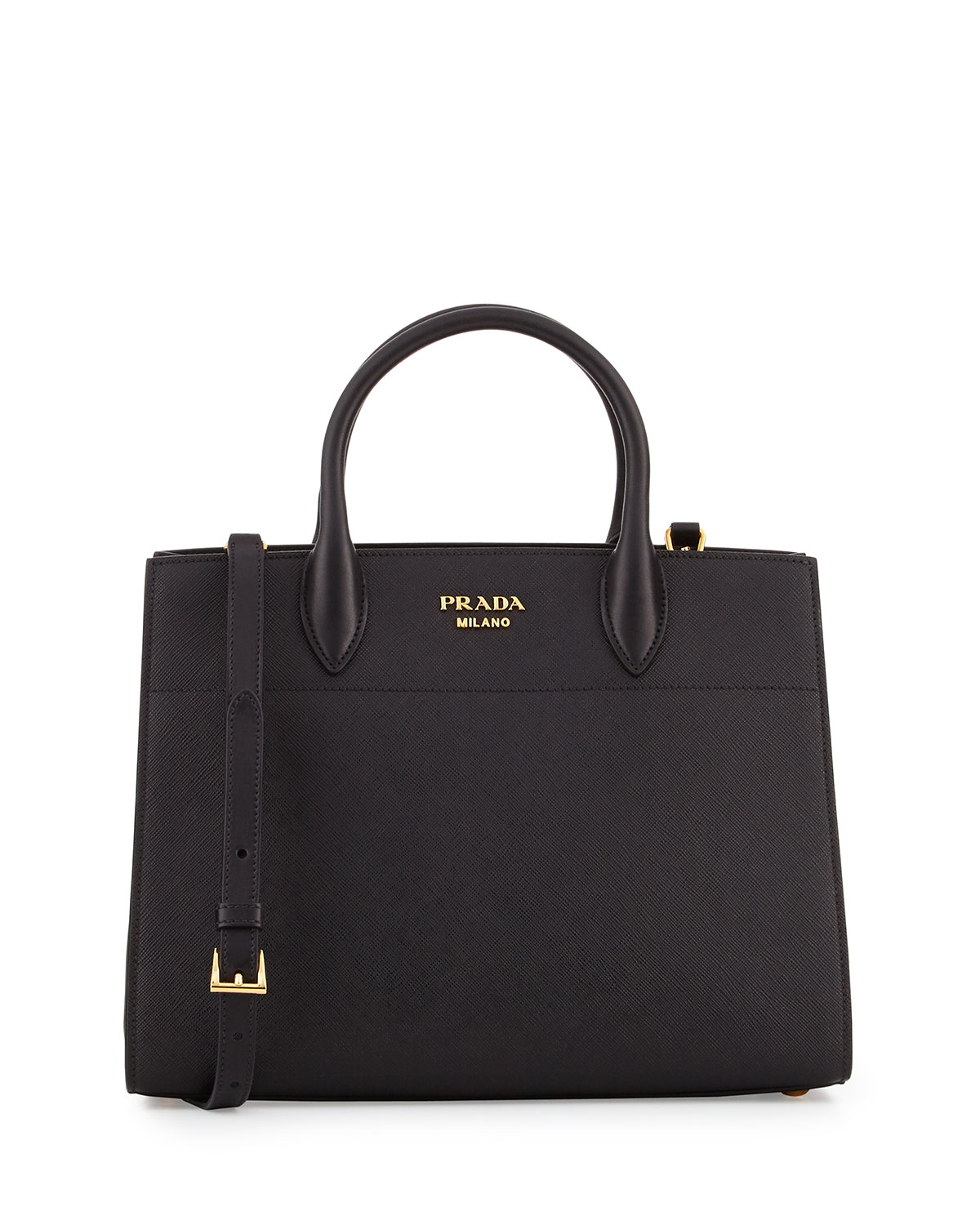 10b5d18117e93c Prada Bibliotheque Medium Saffiano Top-Handle Tote Bag, Black (Nero ...