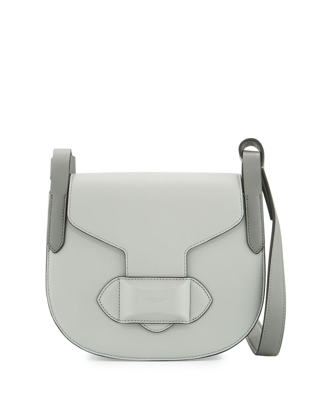 d9c364d9527d Michael Kors Daria Small Leather Crossbody Bag, Cement   Neiman Marcus