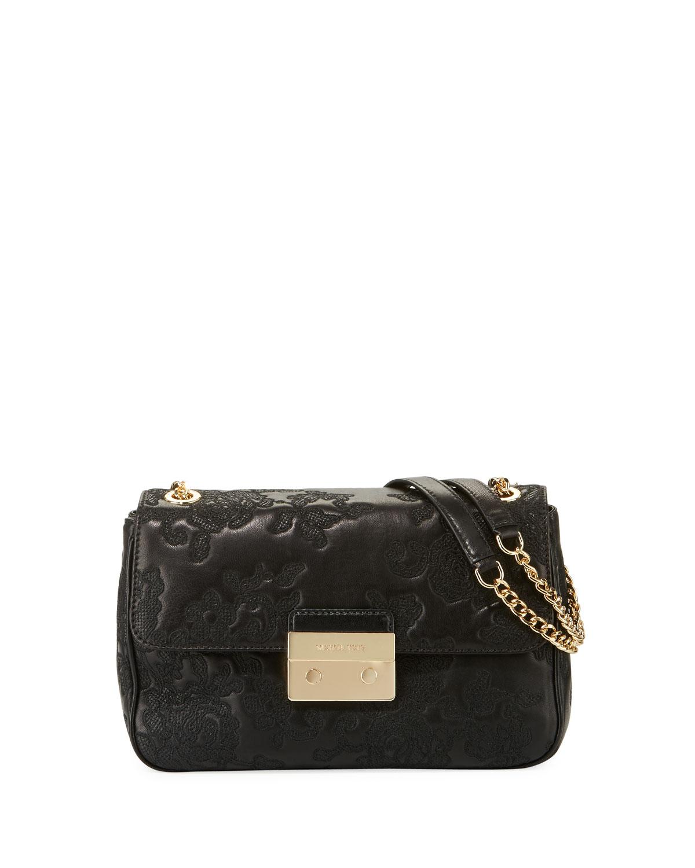 a39da1011ce1 MICHAEL Michael Kors Sloan Large Lace Chain Shoulder Bag | Neiman Marcus