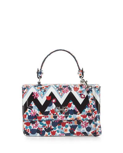 4d1901b44f02 Salvatore Ferragamo Seila Small Floral Top-Handle Satchel Bag
