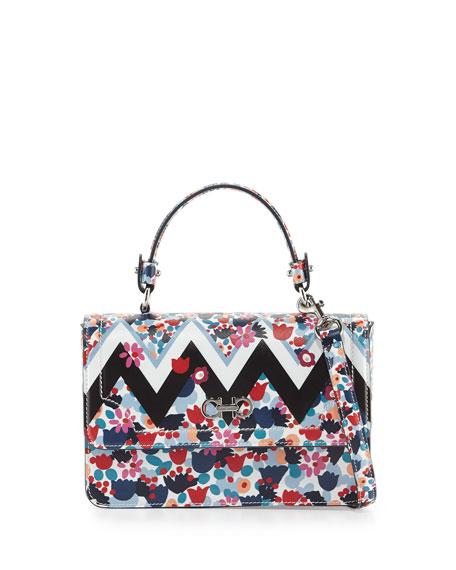 Salvatore Ferragamo Seila Small Floral Top-Handle Satchel Bag,