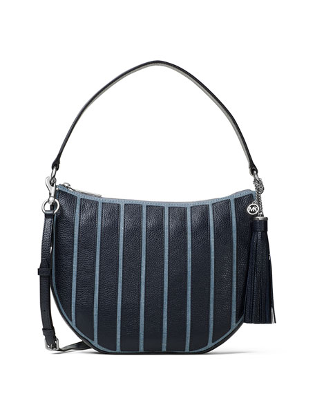 MICHAEL Michael Kors Brooklyn Medium Striped Canvas Convertible