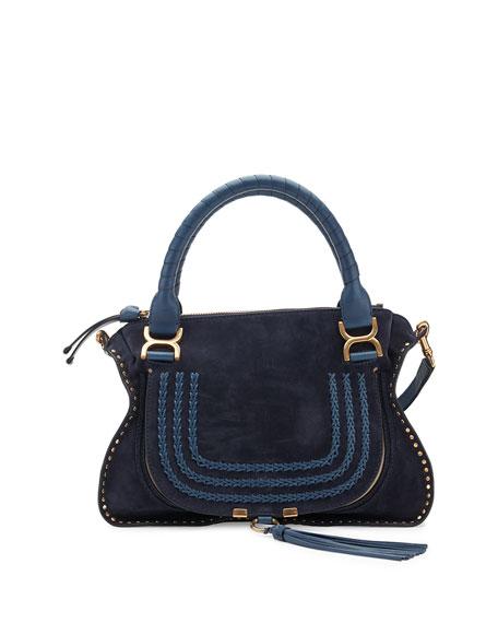 Chloe Marcie Medium Suede Satchel Bag