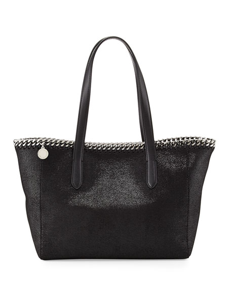 Stella McCartney Falabella East-West Shopper Tote Bag, Black