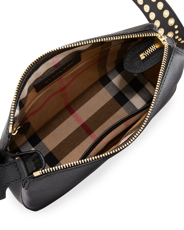 6bfde9de0c Burberry Helmsley Small Eyelet & Rivet Crossbody Bag, Black | Neiman Marcus