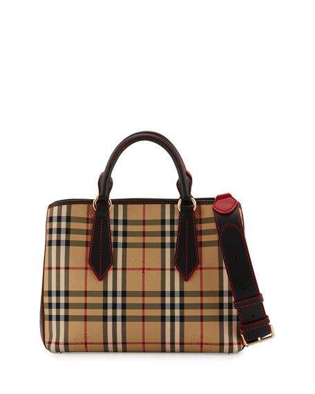 Ballingdon Medium Horseferry Check Tote Bag, Honey/Black