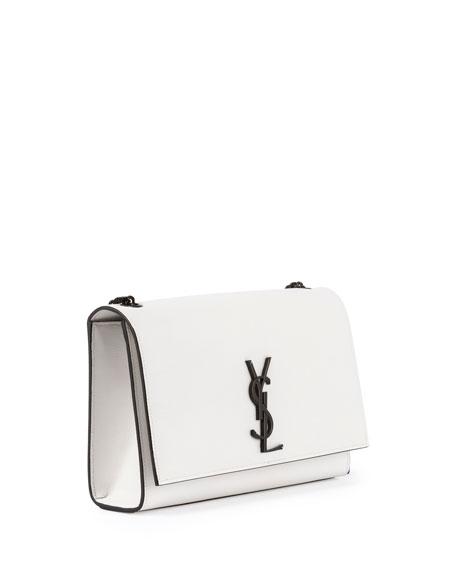 Kate Monogram Medium Crossbody Bag, White/Black