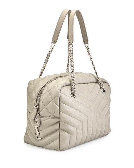 Loulou Monogram Y-Quilted Medium Bowling Bag