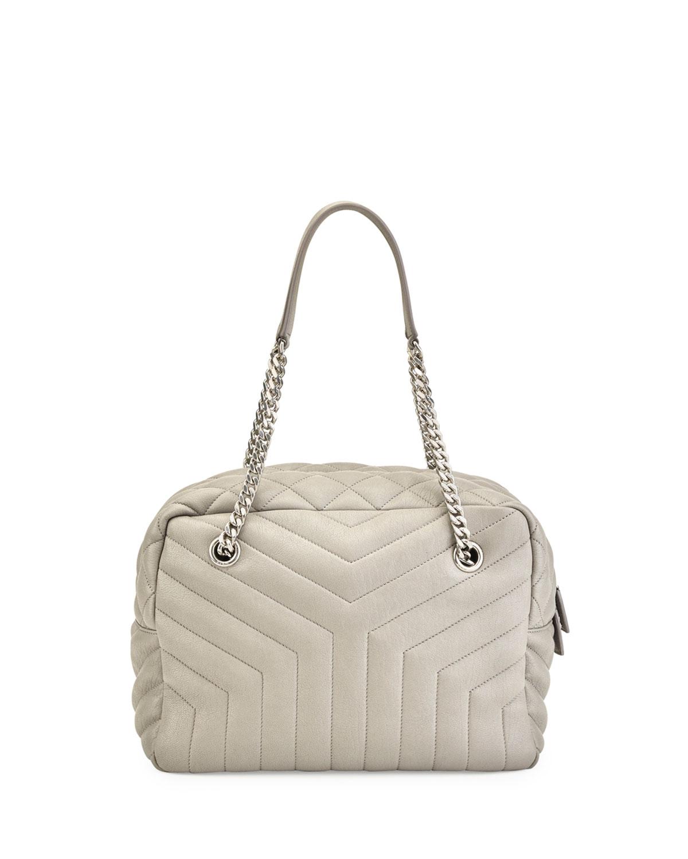 Loulou Monogram Y-Quilted Medium Bowling Bag   Neiman Marcus e9b601e0fd