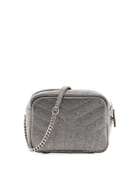 Monogram Y-Quilted Mini Leather Camera Crossbody Bag, Gunmetal