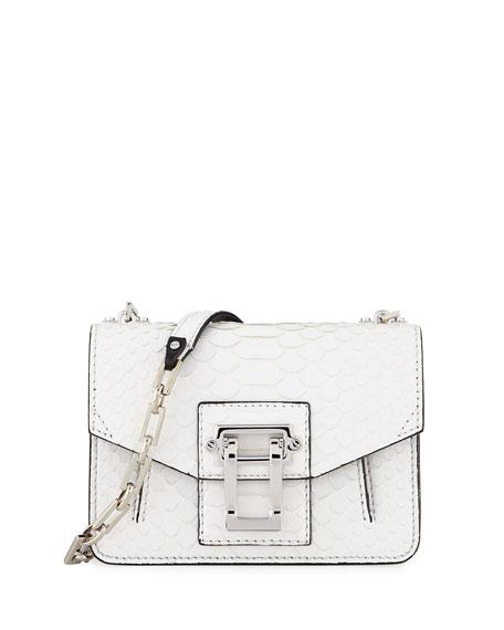 Proenza Schouler Hava Matte Python Chain Crossbody Bag White Neiman Marcus