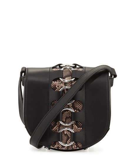 Alexander Wang Lia Mini Ring Leather Saddle Bag,