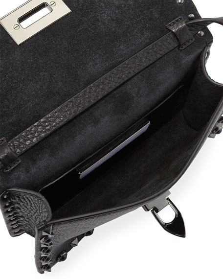 Rockstud Rolling Noir Guitar Medium Shoulder Bag