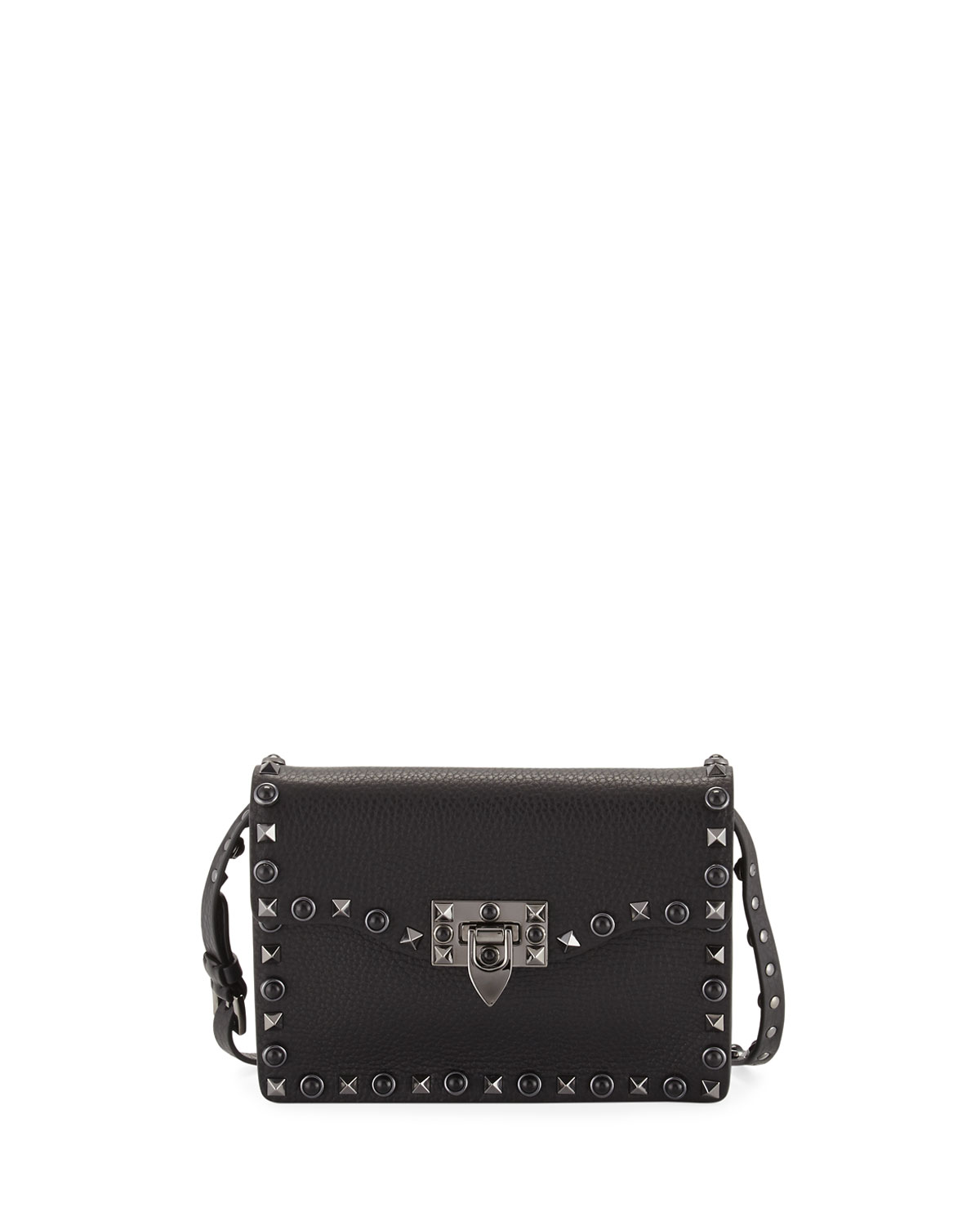 a4746c57990 Valentino Garavani Rockstud Rolling Noir Guitar Medium Shoulder Bag ...