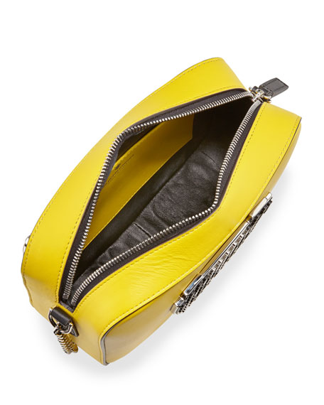 Roy Metal Panda Crossbody Bag, Yellow