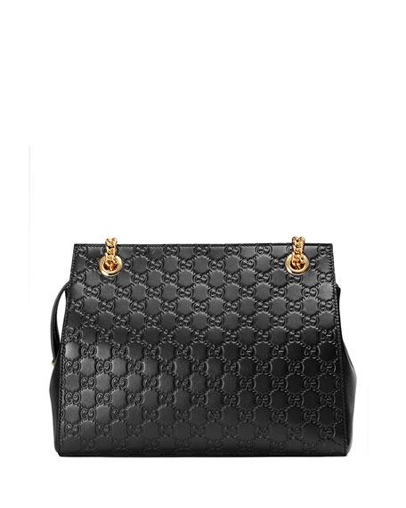 Gucci Signature Chain-Handle Tote Bag