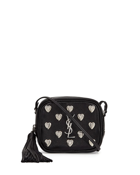 Monogram Blogger Heart Crossbody Bag, Black