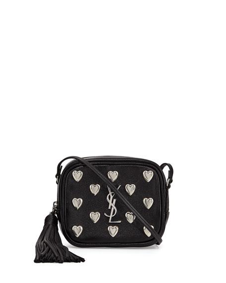 Saint Laurent Monogram Blogger Heart Crossbody Bag, Black