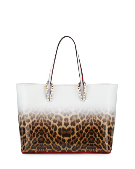 Christian Louboutin Cabata East-West Leather Leopard-Print Tote Bag, Multicolor