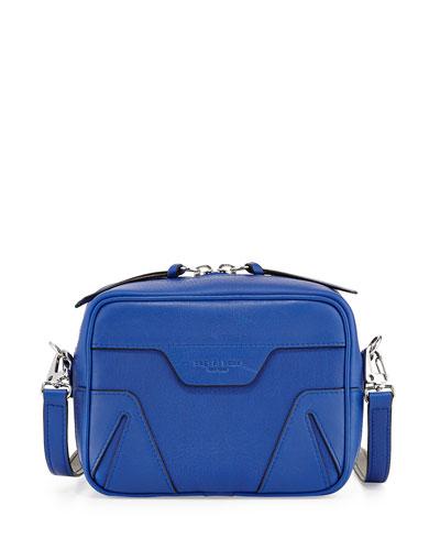 Flight Mini Leather Camera Bag, Cobalt