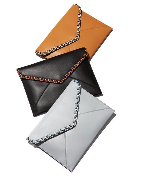 Chase Leo Leather Envelope Clutch Bag