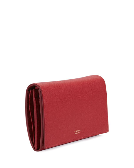 Leather Flap Wallet on Strap