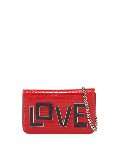 Ginny Black Widow Clutch Bag, Red