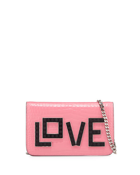 Ginny Black Widow Clutch Bag, Pink