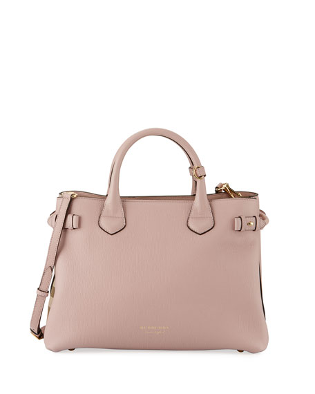 Burberry Banner House Check Derby Tote Bag, Pink