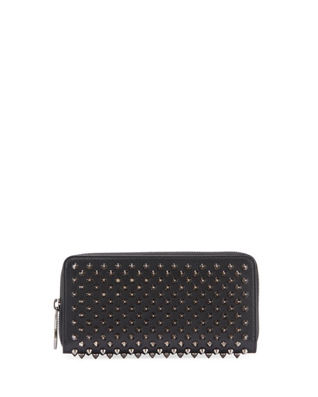 Christian Louboutin Macaron Spiked Floral Flap Wallet