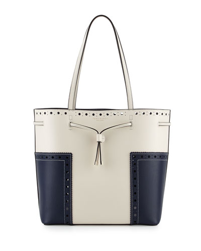 Block-T Brogue Drawstring Tote Bag