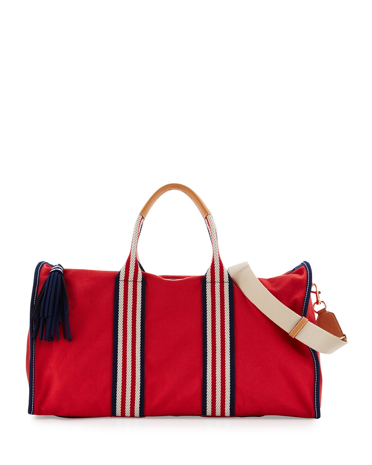 Embroidered T Canvas Weekender Bag